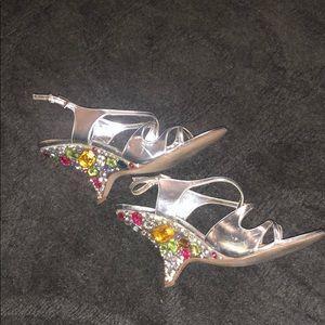 Beautiful unique stoned heels